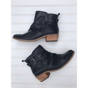 Baretraps ankle boots black leather booties sz 6.5